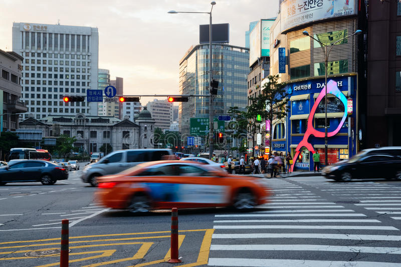 Seoul Business District, South Korea royalty free stock photo