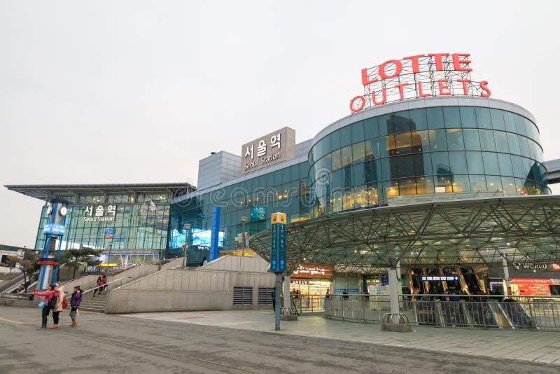 Seoul drevstation arkivbild