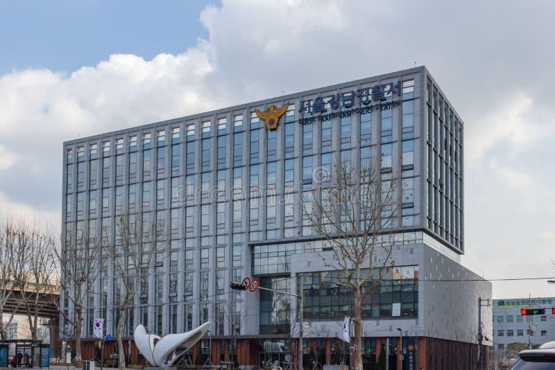 Seoul Gangnam polisstation royaltyfri foto