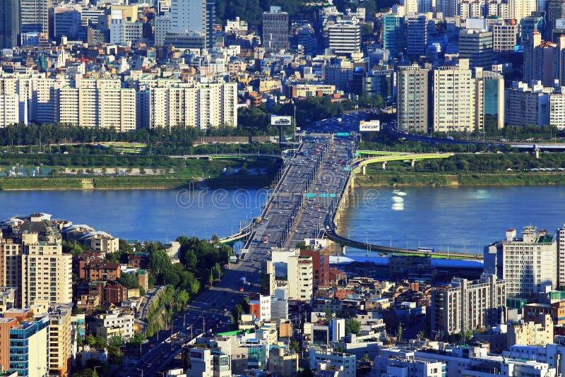Seoul Han River Cityscape stock photos