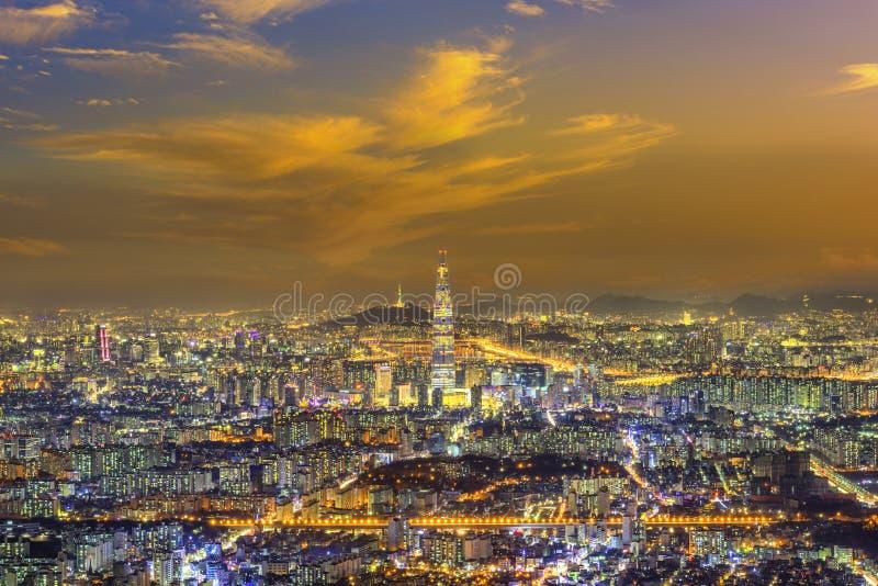 Seoul Hauptstadt Skyline und neuer Meilenstein lizenzfreies stockbild