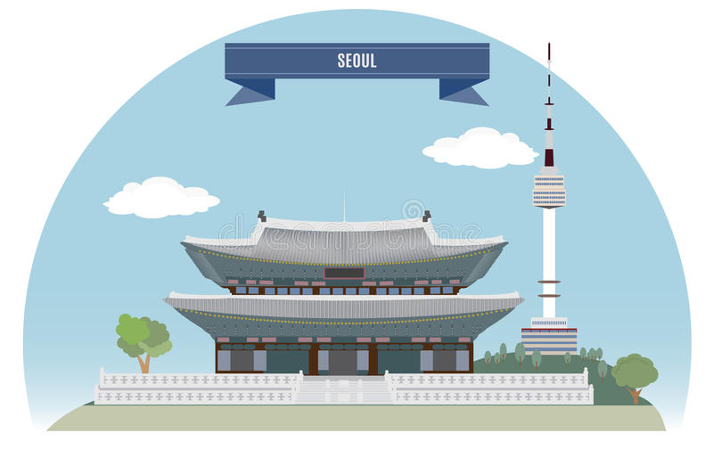 Seoul vector illustration