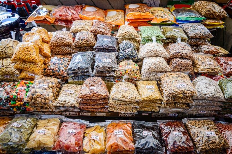 Seoul-Markt-Waren stockfotos