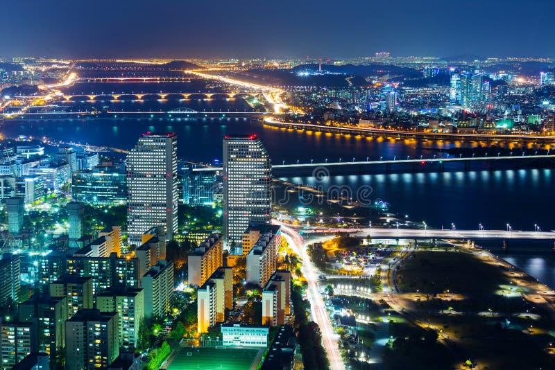 Seoul night stock photo