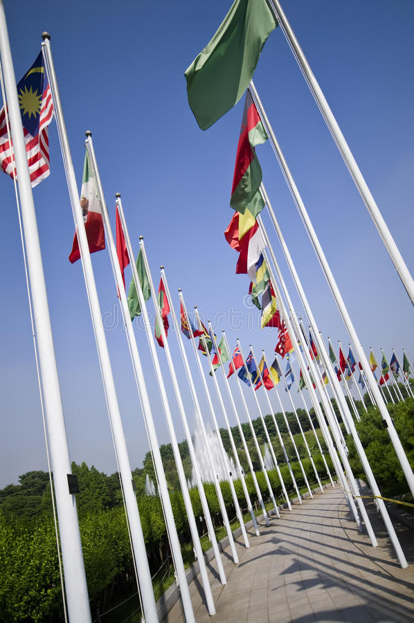 Download Seoul Olympic Park flags stock image. Image of seoul - 15279729