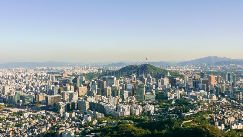 Seoul-Panorama lizenzfreie stockfotografie