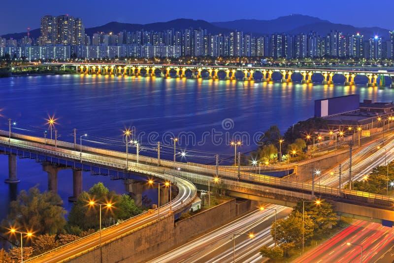 Seoul-Skyline, Korea lizenzfreie stockfotos