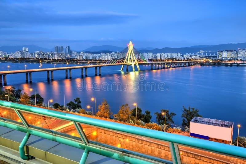 Seoul skyline, Korea stock photography