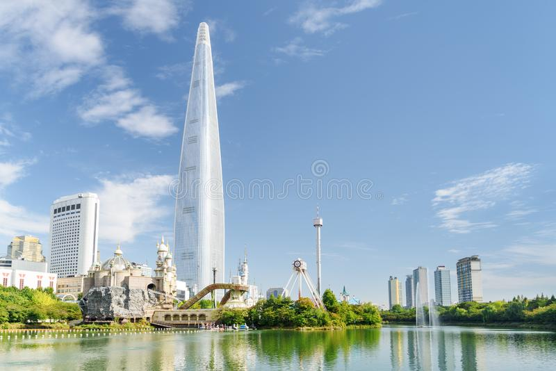 Seoul skyline, South Korea. View of downtown. Scenic cityscape stock image