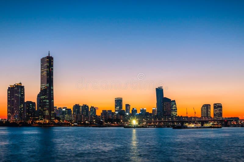 Seoul-Sonnenuntergang lizenzfreie stockbilder