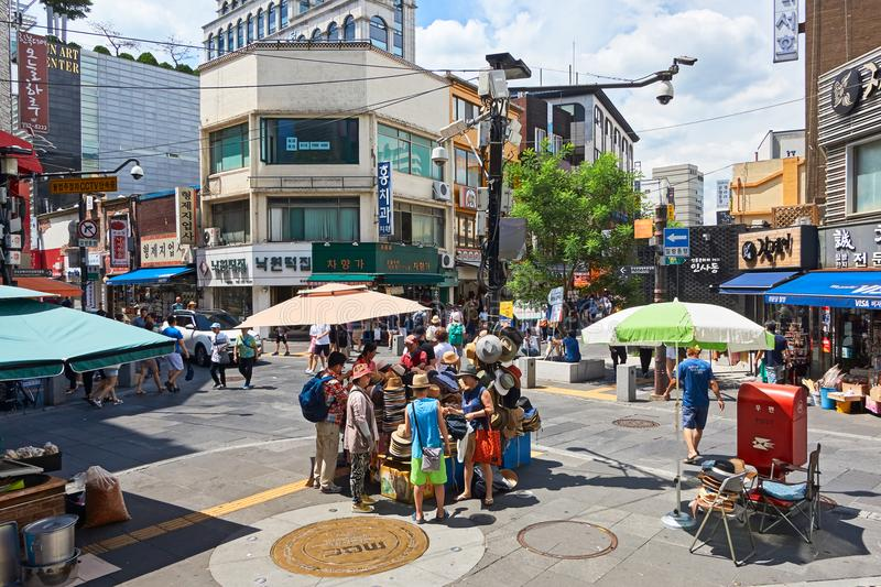Insadong street in Seoul, South Korea stock photography