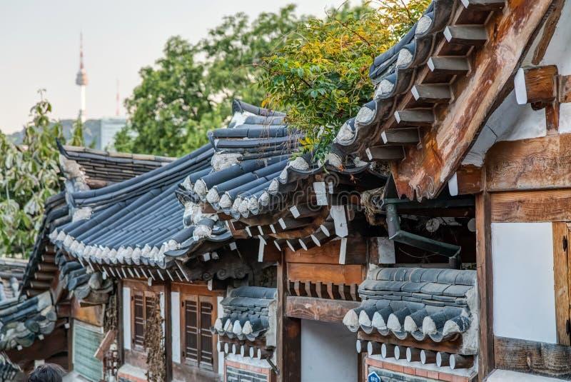 Seoul, South Korea - circa September 2015: Bukchon Hanok Village in Seoul stock image