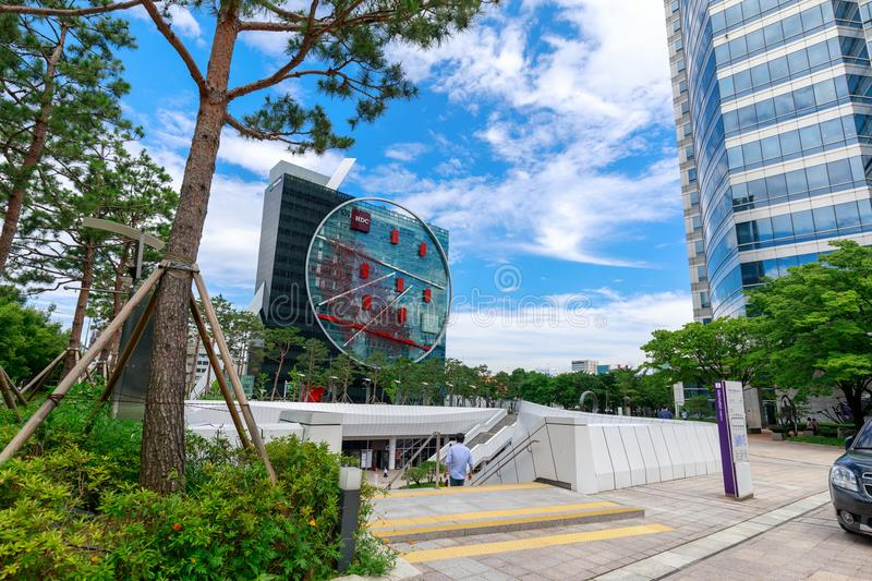 Coex shopping mall scene in Gangnam district, Seoul city stock photos