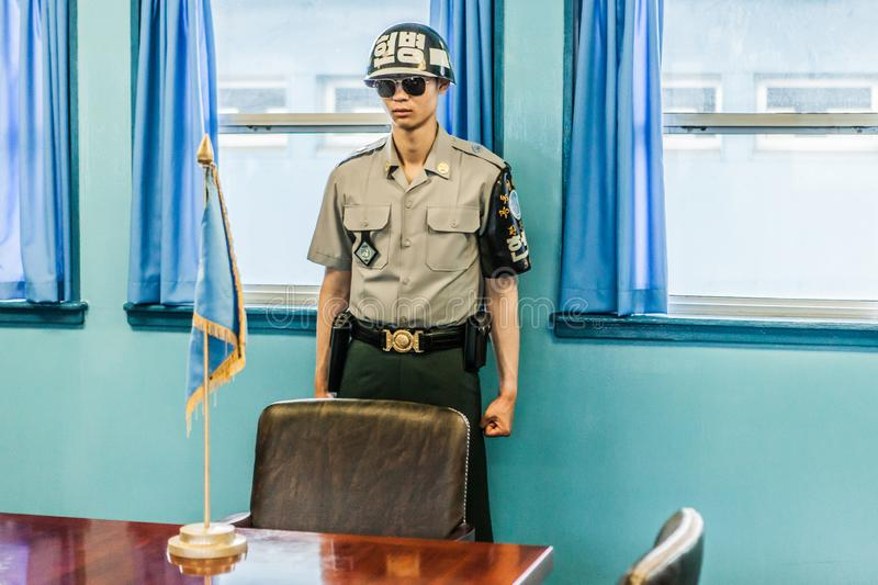 The DMZ stands for demilitarised zone and is the border zone wit stock photography