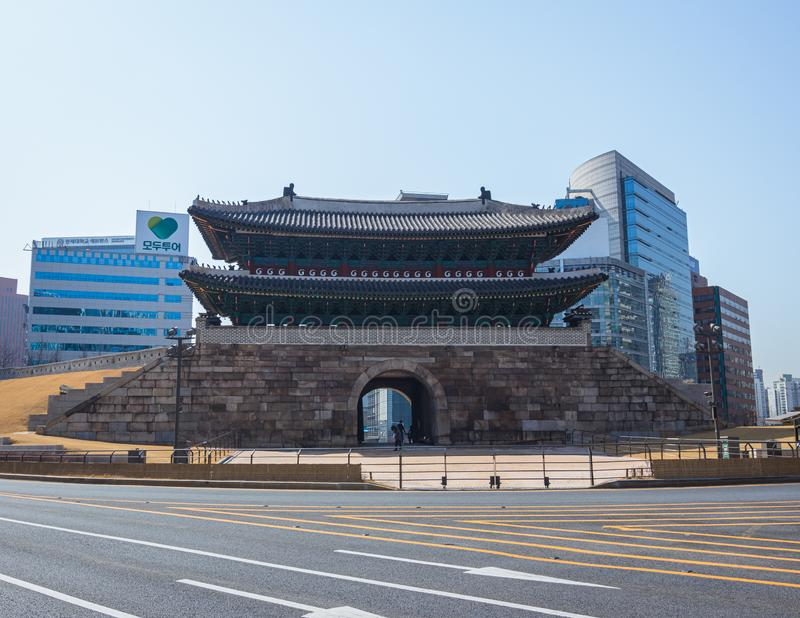 Namdaemun gate Seoul color royalty free stock photo