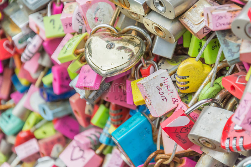 SEOUL, SOUTH KOREA - October 29 : The Love Key Ceremony at N Seoul Tower on October 29 ,2015 in Seoul City, Korea. Located on Nam. San Mountain in the center of stock photography