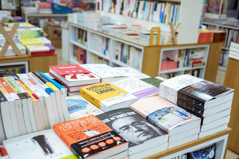 Piles Of Books In A Bookstore Editorial Stock Photo - Image