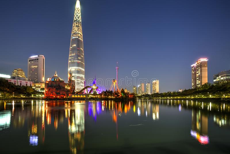 Seoul stad, Korea royaltyfri fotografi