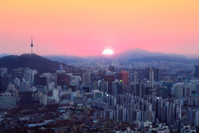 Seoul stadshorisont royaltyfri fotografi