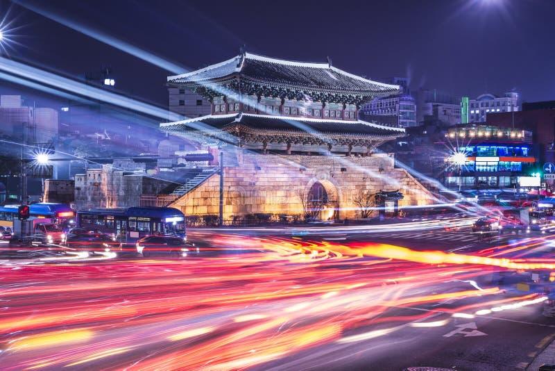 Seoul Sydkorea cityscape arkivbilder