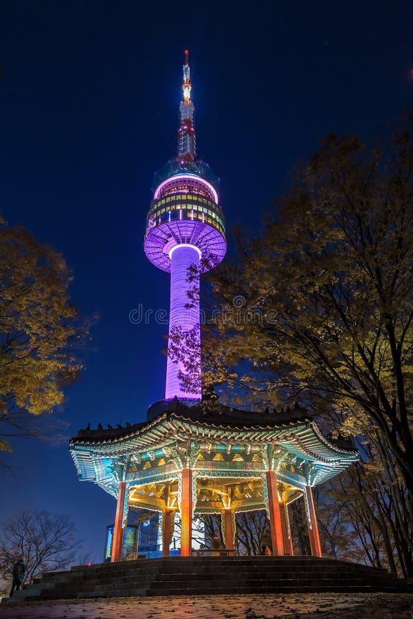 Seoul torn arkivfoton
