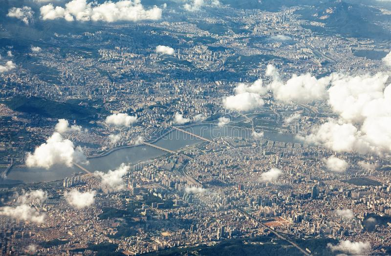 Seoul und Han River lizenzfreies stockbild