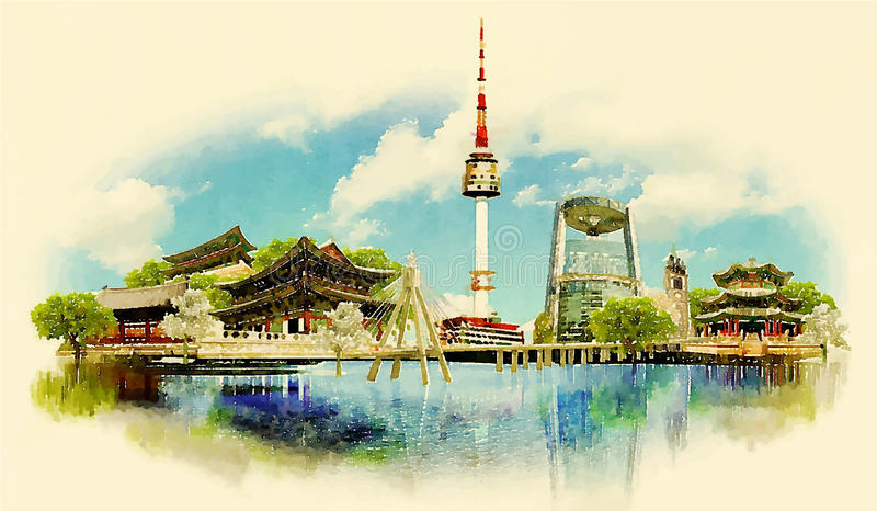SEOUL royalty free illustration