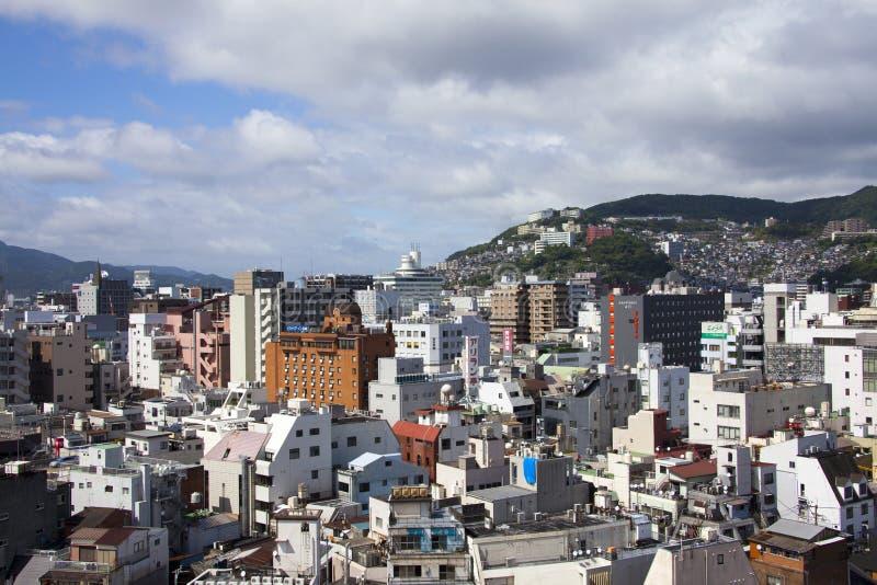 9 sep de mening van 2016 van de stad van Nagasaki, Japan stock foto