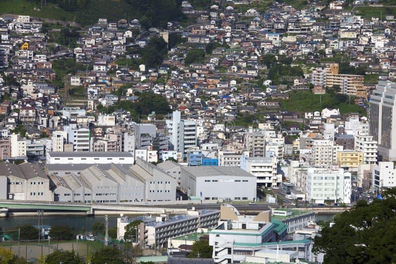 13 sep 2016 de stad van Nagasaki, Japan stock fotografie
