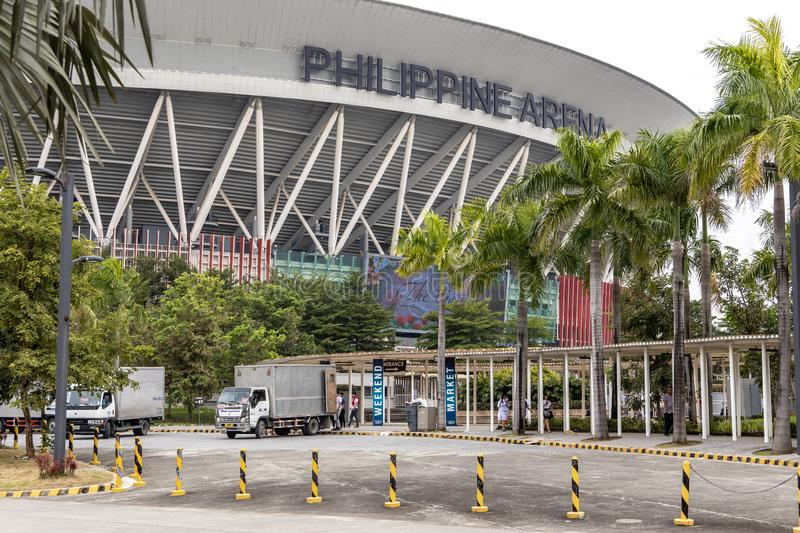 People coming out of the Philippine Arena, Bulacan, Philippines, Sep 7,2019. Sep 7,2019 People coming out of the Philippine Arena, Bulacan, Philippines stock photos
