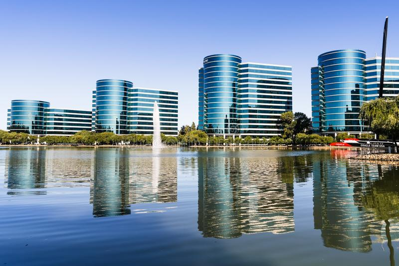 Sep 9, 2019 Redwood City / CA / USA -  Oracle corporate headquarters in Silicon Valley; Oracle Corporation is a multinational. Computer technology company royalty free stock photo