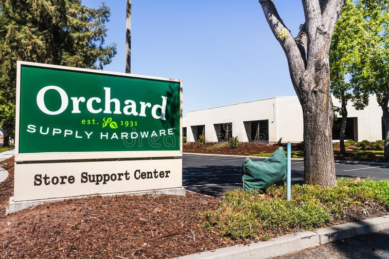Sep 19, 2019 San Jose / CA / USA - Orchards Supply Hardware OSH corporate offices; OSH was an American retailer of home. Improvement and gardening products; all royalty free stock photography