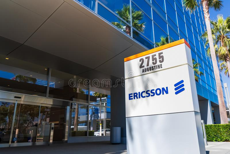 Sep 1, 2019 Santa Clara / CA / USA - Ericsson headquarters in Silicon Valley; Telefonaktiebolaget LM Ericsson, is a Swedish royalty free stock image