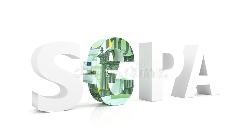 Download SEPA - Single Euro Payments Area With Euro Currency Stock Illustration - Image: 36670903