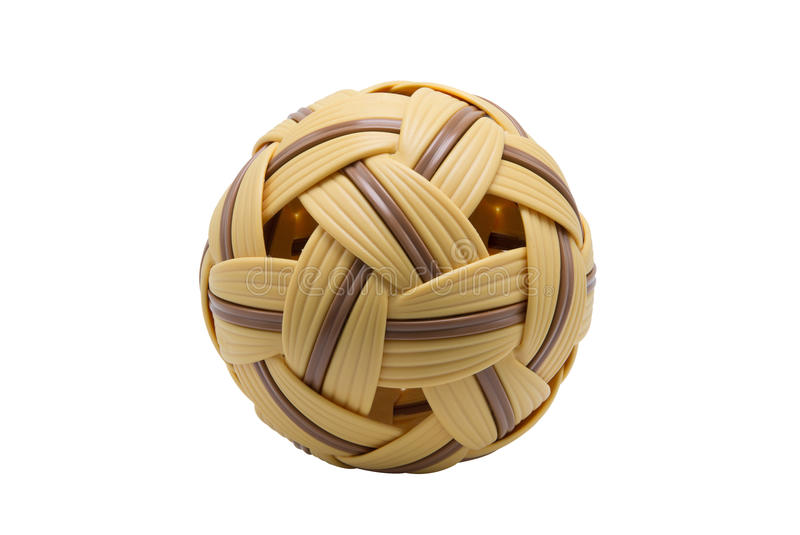 Sepak Takraw ball with clipping path stock photography