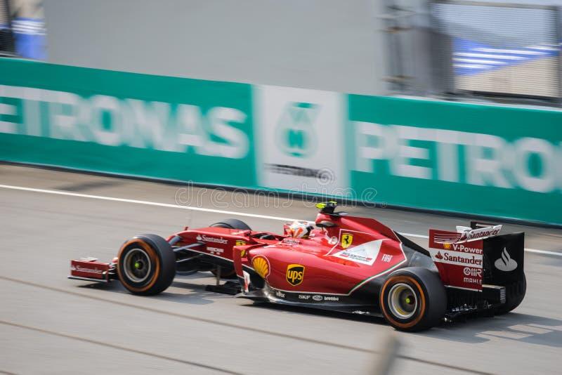 SEPANG - 30 DE MARZO: Conducción de Kimi Räikkönen imagen de archivo