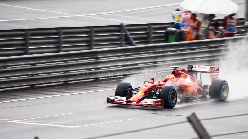 SEPANG - 29 DE MARZO: Lluvia de conducción de Kimi Räikkönen imágenes de archivo libres de regalías