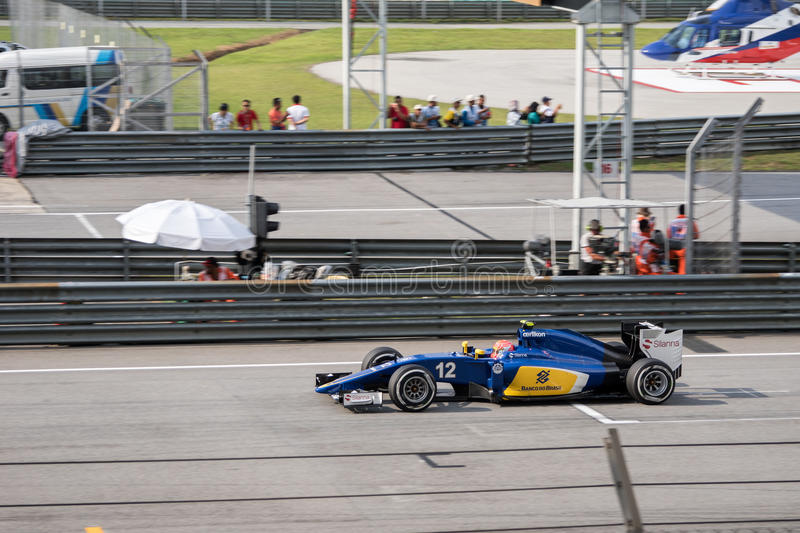 SEPANG - MARCH 28: Felipe Nasr on Way royalty free stock photo