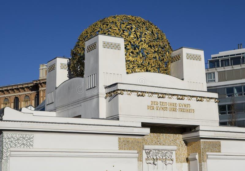 Separação, arte Nouveau em Viena foto de stock royalty free