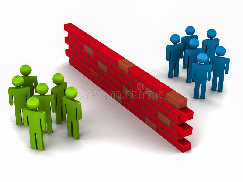 Separação de grupos ilustração stock