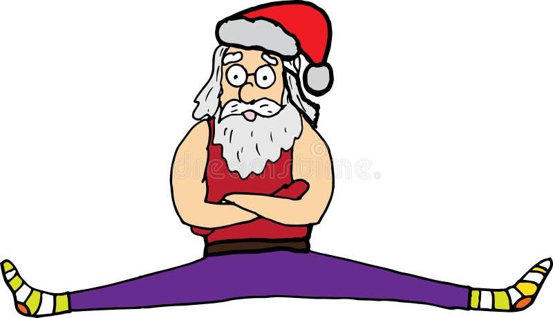 Separação de Santa Claus dos esportes Car?ter do vetor imagens de stock royalty free