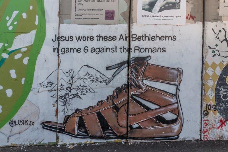 Separacyjna bariera, pokój ściana w Bethleham/, Izrael obrazy royalty free