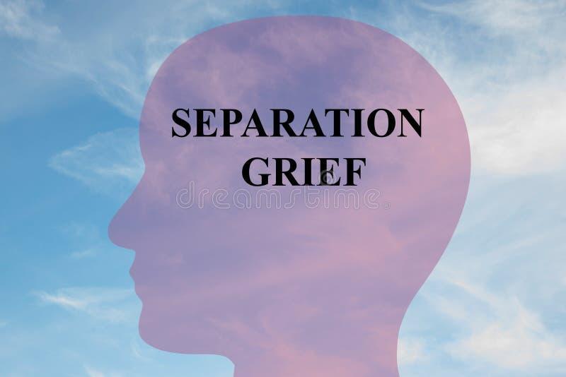 Separacyjny żal - umysłowy pojęcie ilustracji