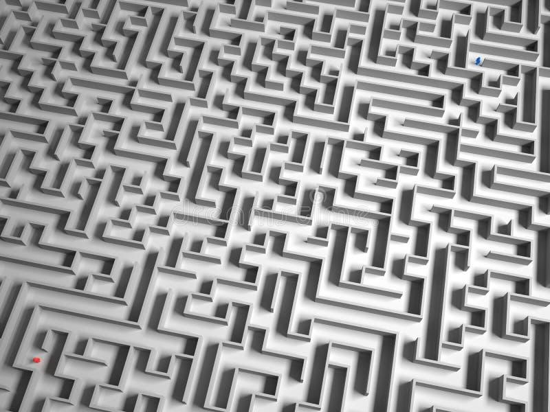 Separado en el laberinto ilustración del vector