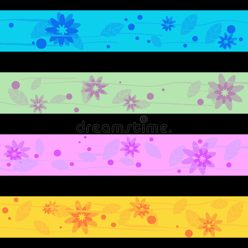 Download Separated banners stock vector. Image of light, flower - 6358618