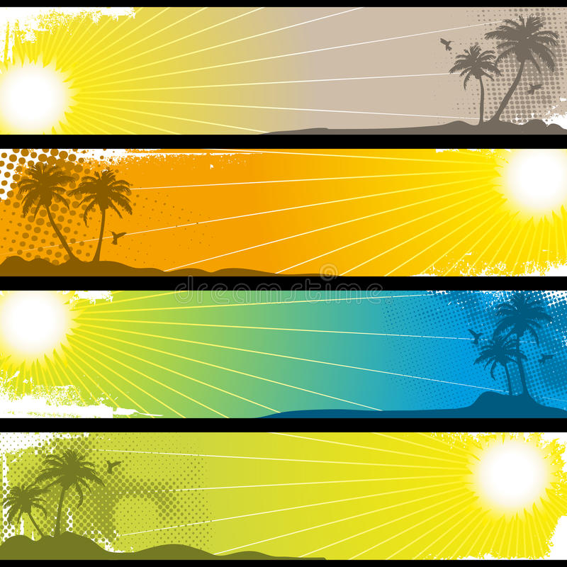 Download Separated Tropical Banners stock vector. Image of coconut - 14700207