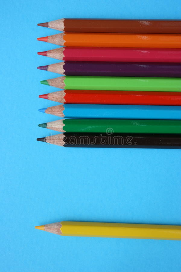 Download A Separated Yellow Color Pencil Stock Photo - Image: 12292970