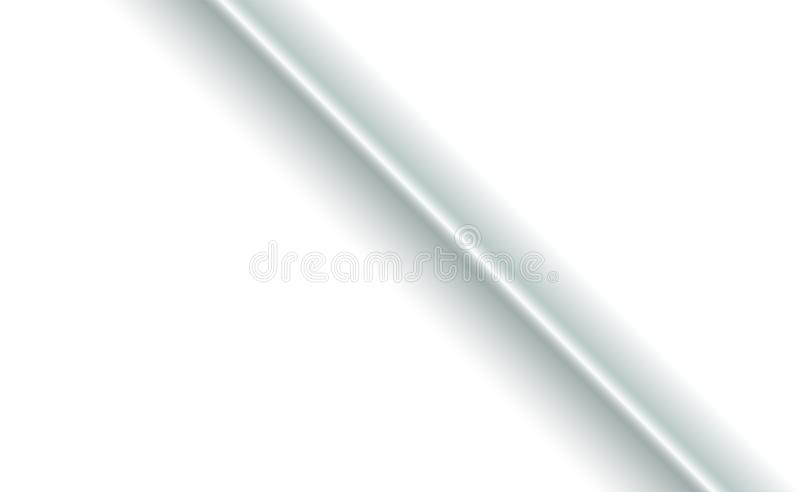 Separation fold background in the middle of white paper fabric diagonally. Blank with soft shadows. Copy-space clear template. Concept for presentation or royalty free illustration