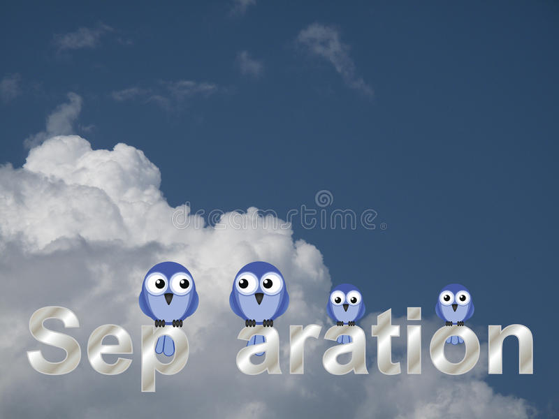 Separation text royalty free stock images