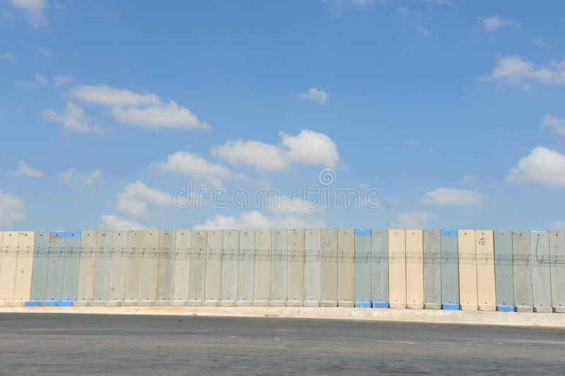 Separation Wall Gaza Israel. Wall built to for security measures to separate Gaza from Israel stock photos